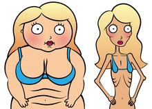 Anorexy i nadwaga dziewczyna