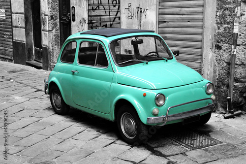 Poster Oude auto s Italian style