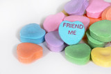 "Valentine Candy Hearts ""Friend Me"""