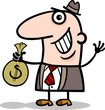 happy businessman cartoon illustration