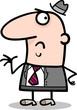 disgusted businessman cartoon illustration