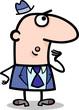 surprised businessman cartoon illustration