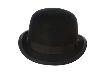 derby or bowler hat on white