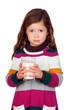 Pretty girl with a milk glass