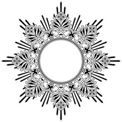 Round floral calligraphic border