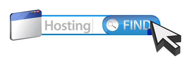 searching for web hosting concept