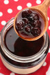 tasty berry jam, close up