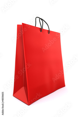 3d render of a red shopping bag