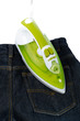 Ironing tool and jeans