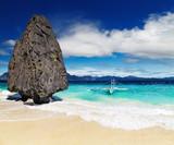 Fototapete Philippines - Gestein - Meer / Ozean