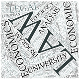 Law and economics Disciplines Concept