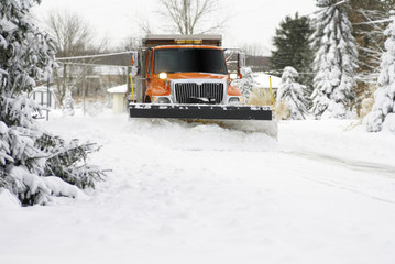 Snow Plow Approaching