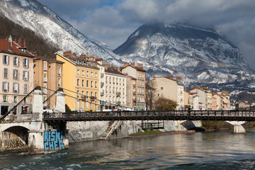 Grenoble panorama rhone