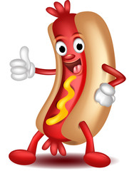 hot dog cartoon thumbs up