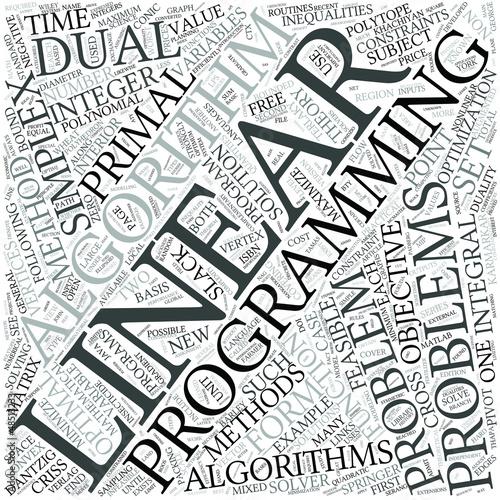 Linear programming Disciplines Concept