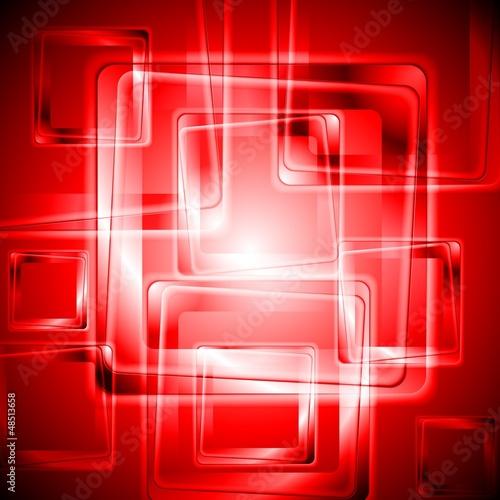 Vibrant red tech design