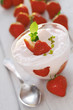 Strawberries and yoghurt