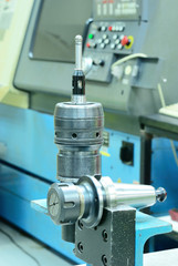 Both collet of CNC machine