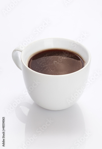 Cup of fresh strong black coffee