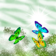 Background. Butterflies