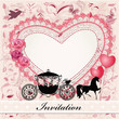 Valentine's card with a horse and carriage