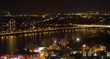 cologne rhine river cityscape at night