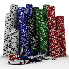 Casino chips isolated
