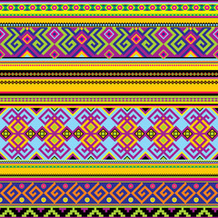 vector seamless background with a mexican pattern
