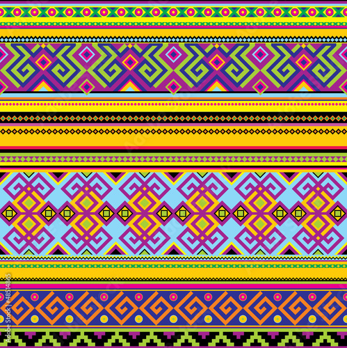 Poster vector seamless background with a mexican pattern