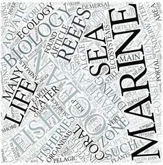 Marine biology Disciplines Concept