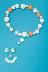 Smilyface made of pills