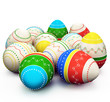 colorful painted Easter eggs.