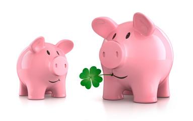 2 Glücksschweine