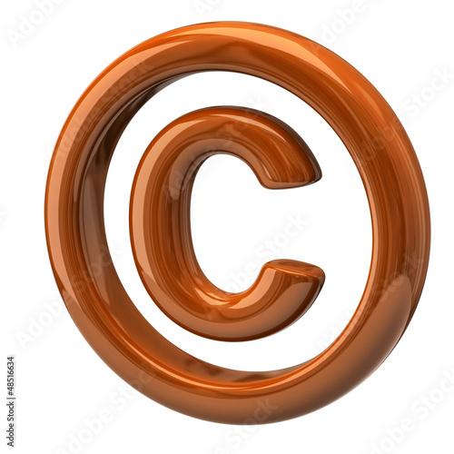 Orange copyright symbol