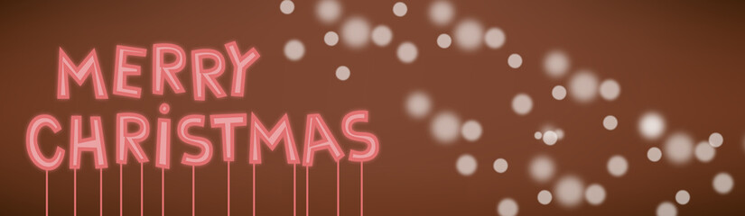 merry christmas cartoon neon sign card