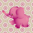 Applique with pink elephant