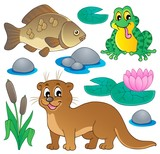 River fauna collection 1 poster