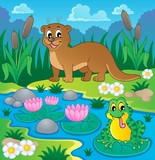River fauna theme image 1 poster