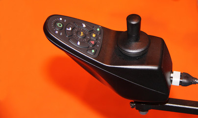 The Control Panel of a Disability Electric Wheelchair.