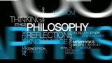 Philosophy reflection knowledge word tag cloud video poster