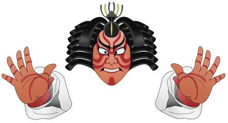 歌舞伎,カオ手