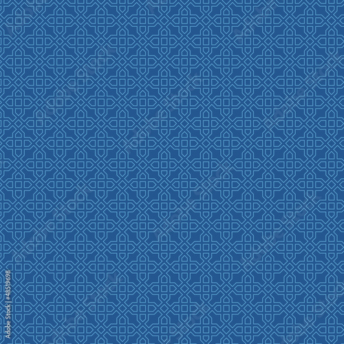 Retro seamless pattern.  Blue background abstract. Vector