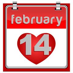 14 February Calendar Metallic