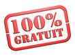"""Cachet """"100% Gratuit"""""""