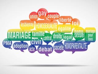 nuage de mots bulles : mariage pour tous v2