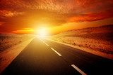 Fototapeta Strada verso il tramonto