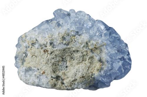 Tuinposter Edelsteen Tselestin's blue mineral