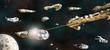 Space Battle Fleet in Action - 48522646