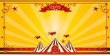Orange circus invitation