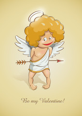 angel cupid for valentine's day vector illustration EPS10.